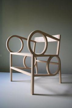 // by Christopher Kurtz #furniture #design #mobilier #chair #armchair #fauteuil #bois #wood