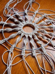 how to make a hemp circular macrame wall hanging by apairandaspare, use Hemptique hemp cords Woven dream catcher and 30 other great crafts Boho Dream Catchers Want Cool, Easy DIY Crafts Ideas and Projects? Save on crafts with step by step instructions, ho Diy Craft Projects, Macrame Projects, Diy Home Crafts, Easy Diy Crafts, Arts And Crafts, Craft Ideas, Crafts Cheap, Decor Ideas, Hemp Crafts