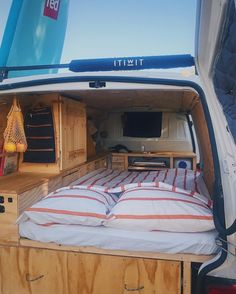 It s not the best around, but when you re tired from all that driving, you can fall asleep anyway. Volkswagen by idasogaard Auto Camping, Truck Camping, Van Camping, Van Conversion Plans, Cargo Van Conversion, Camper Van Conversion Diy, Best Travel Trailers, Travel Trailer Remodel, Diy Camper