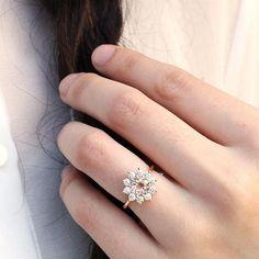 Heidi Gibson: the Juliet Morganite + White Sapphires + Rose Gold
