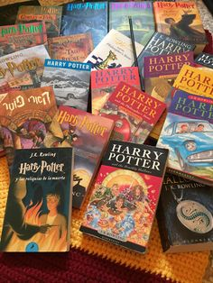 All in all, she now has 37 different versions including the Harry Potter books and the companion books Quidditch Through the Ages, Fantastic Beasts and Where to Find Them, and The Tales of Beedle the Bard.