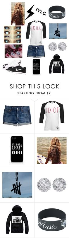 """""""Michael Clifford Inspired"""" by samanthamyers-i on Polyvore featuring J.Crew, Samsung, NIKE and Allurez"""