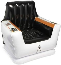 ThinkGeek - Star Trek Inflatable Captain's Chair - What fan of James T. Kirk wouldn't love this fun chair.  What's the weight limit for this blowup Captain's chair?
