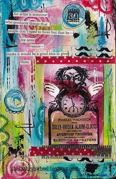 Art Journal - Mini page by thekathrynwheel, via Flickr
