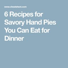 6 Recipes for Savory Hand Pies You Can Eat for Dinner - Page 2 Rib Recipes, Fall Recipes, Real Food Recipes, Cooking Recipes, Cooking 101, Pizza Recipes, Just Donuts, Tender Ribs