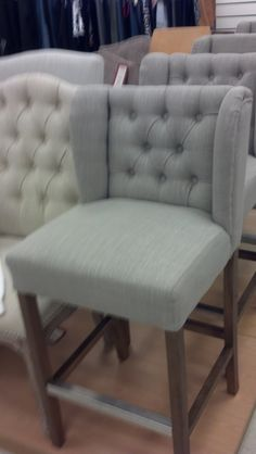 Great Things Gray tufted barstool on sale now at Marshalls
