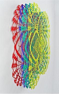 Layered Color Cutouts artist Susanna Starr