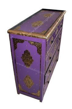 Purple Rectangular Metal and Leather Dresser eclectic-dressers-chests-and-bedroom-armoires Baroque Furniture, Modern Baroque, Dressers For Sale, Decorating Tips, Houzz, Decorative Boxes, Things To Come, Design Inspiration, Homes