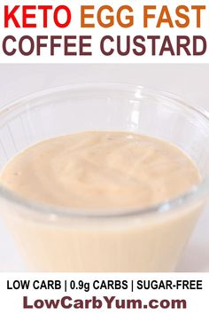 Keto Egg Fast Coffee Custard Recipe - A low carb pudding dessert to enjoy while on an egg fasting diet plan! Keto Egg Fast Coffee Custard Recipe - A low carb pudding dessert to enjoy while on an egg fasting diet plan! Pudding Desserts, Real Food Recipes, Diet Recipes, Healthy Recipes, Chili Recipes, Lunch Recipes, Schnitzel Hawaii, Egg And Grapefruit Diet, Keto Egg Fast
