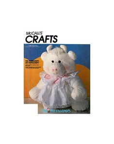 McCall's 3017 Puffalumps Lovable Lumps of Snuggly Stuff, Hug A Cow with Dress Soft Toy, Uncut, Factory Folded, Sewing Pattern Stuffed Toys, Hug, Sewing Patterns, Buy And Sell, Teddy Bear, Handmade, Dress, Stuff To Buy, Animals