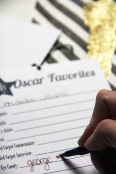 Printable Oscar Ballot + Favorites... great oscar party ideas!