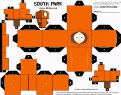 South Park Kenny Cubee Template by ~jordof131 on deviantART