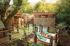 8 Incredible Spas For The Ultimate Getaway #refinery29  http://www.refinery29.com/best-spa-vacations#slide-3  The Auberge Spa at Calistoga Ranch, Napa Valley, CA Not only is this spa located in a beautiful wooded canyon, it also offers easy access to many of the region's fabulous wineries. Each treatment room has its own open-air garden shower and private mineral water tub.