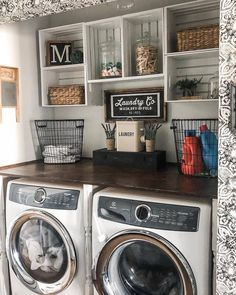 laundry room decor just looking a picture is not enough, visit my website to see more about smart Farmhouse laundry room storage organization ideas. Laundry Room Remodel, Laundry Decor, Laundry Room Storage, Laundry Room Design, Laundry Room Makeovers, Laundry Detergent Storage, Laundry Drying, Laundry Area, Laundry Room Decorations