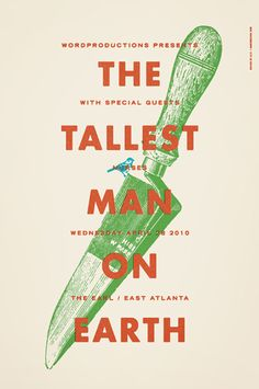 Alvin Diec, the tallest man on earth poster design