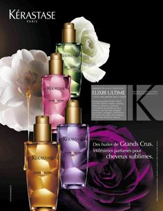 Kerastase elixer oils: There is one for every hair type! Even baby fine hair.