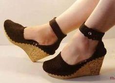 Botas Y Zapatos M Sandalias Tejidas A Crochet