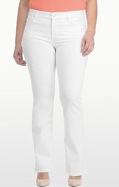 6 Essential Items for an Early Spring Wardrobe NYDJ also makes great plus size white jeans. $114