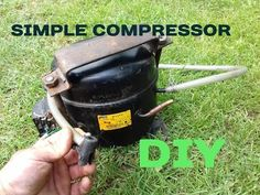 How to make a Simple Compressor with a motor from a Refrigerator DIY - YouTube