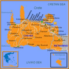 Chania Map Greece PLEASE Pinterest Crete Crete greece and