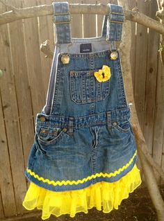 1a532cdb02 Texas Girl s Tutu with Recycled Overalls and Tutu