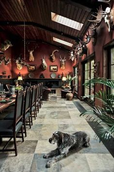 Hunting Lodge Interior Design and Decor Blending Urban Luxury and Boyhood Atmosphere