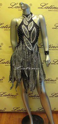Latin Salsa Ballroom Competition Dress Size s M L LS56 | eBay