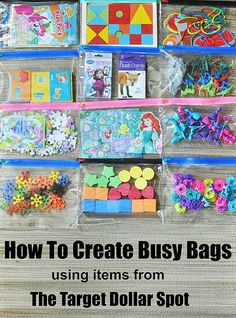 Lexie Loo, Lily, Liam & Dylan Too: How To Create Busy Bags using items from The Target Dollar Spot