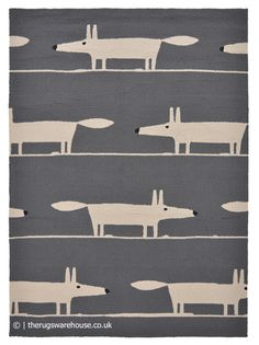 Scion Mr Fox, Leopard Rug, Fox Pattern, White Zebra, Indoor Outdoor Rugs, Charcoal, Ivory, Kids Rugs, House Design
