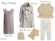 Week 38: beige palette. #beige #missgrant #burberry #missblumarine #FW13 #fall #winter #fallwinter2013 #children #kids #childrenwear #kidswear #girls #boys