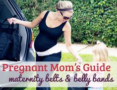 A belly band is an awesome way to keep wearing your old clothes without resorting to maternity wear. Plus they're really supportive!