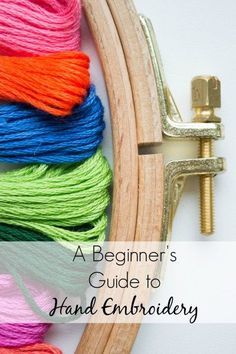 Finally use all of those hand embroidery patterns you've been pinning. Such an easy craft!  And addicting. This guide to hand embroidery for beginners will show you all of the materials you'll need and includes videos!