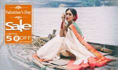 #ValentineSpecial: Upto 50% off on purchases! #FreeBlouseStitching!!  #Valentinesdaysale #Offers #Onlineshopping #Handloomsarees