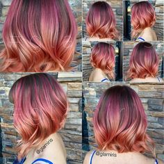 """""""Out of all the names given the color combo, the one that stood out to me was •Tequila Rose•  lol thanks for participating my fellow hair lovers! …"""""""