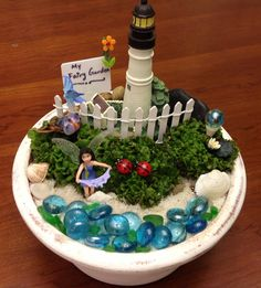 Here is another beauty I created for a customer. Beach themed Fairy Garden.