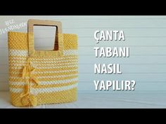 Crochet Bag Tutorials, Crochet Projects, Crochet Patterns, Diy Bags, Bag Making, Crochet Bags, Tabata, Straw Bag, Purses And Bags