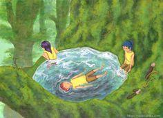 """『小休憩』北原 千 """"Little Rest"""" By Sen Kitahara, アクリル, art, acrylic"""