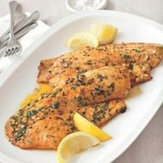Pan- Seared Tilapia... I might add some capers for some zing.