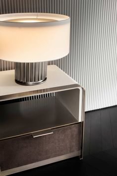 Rugiano is an italian manufacturer of luxury furniture Modern Bedside Table, Bedside Table Design, Bedside Tables, Side Tables Bedroom, Side Table Lamps, Contemporary Furniture, Luxury Furniture, Furniture Design, Home Room Design