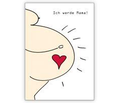 Ich werde Mama Schwangerschafts Karte - http://www.1agrusskarten.de/shop/ich-werde-mama-schwangerschafts-karte/    00012_0_1270, Anzeigenkarte, Baby, Geburt, Glück, Grußkarte, Helga Bühler, Klappkarte, schwanger, Schwangerschaft00012_0_1270, Anzeigenkarte, Baby, Geburt, Glück, Grußkarte, Helga Bühler, Klappkarte, schwanger, Schwangerschaft