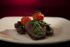 Kieran and Natassia's Beef Fillet, Salsa Verde and Roasted Vegetables from S4 of MKR: http://gustotv.com/recipes/lunch/beef-fillet-salsa-verde-roasted-vegetables/