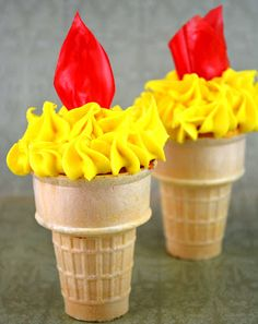Torch Cupcakes · Gideon Bible story snack idea