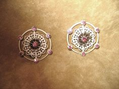 Vintage White and Pink Japanned Clip by DivineMissMDesigns on Etsy