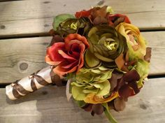 Beautiful Bridal: Fall Silk Wedding Bouquets