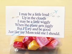 Adorable Children's Flight Favor! One for them and one for the person they sit by! #freeprintable #airplaneride