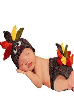 CCC213 Turkey Thanksgiving Baby Hat Outfit Fall Autumn photo prop