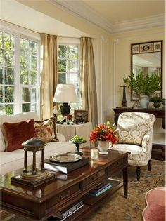 Traditional (Victorian, Colonial) Living Room by Timothy Corrigan