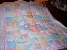 Handmade Baby Beatrix Potter Characters The Tailor Cotton Baby/Toddler Quilt-NEWLY MADE in  2016 by quilty61 on Etsy