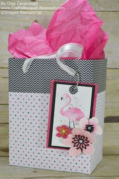 Crafts Bouquet: Stampin'Up Pop of Paradise Birthday Card and Gift Bag