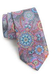 Ermenegildo Zegna 'Venticinque' Print Silk Tie